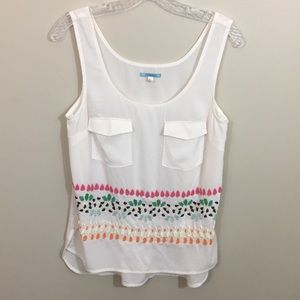 Anthropologie Tops - Anthropologie Leifnotes bazaar beaded tank top